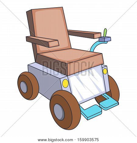 Self-propelled wheelchair icon. Cartoon illustration of self-propelled wheelchair vector icon for web design