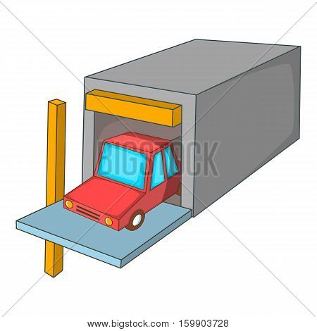 Car garage icon. Cartoon illustration of car garage vector icon for web design
