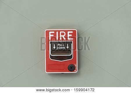 fire alarm notify isolate on gray wall - can use to display or montage on product