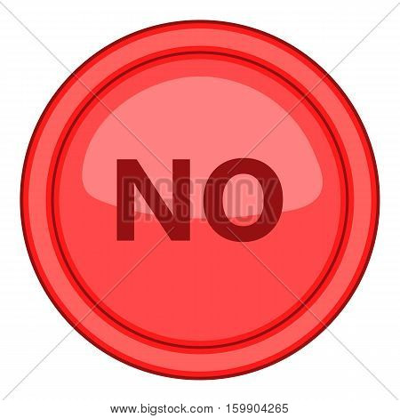 Yes red circle button icon. Cartoon illustration of yes red circle button vector icon for web