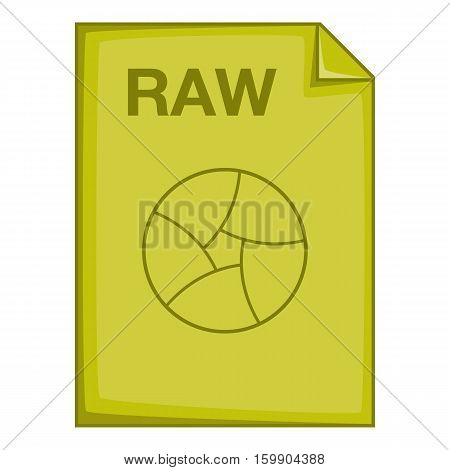RAW file icon. Cartoon illustration of RAW file vector icon for web