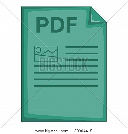 PDF file icon. Cartoon illustration of PDF file vector icon for web