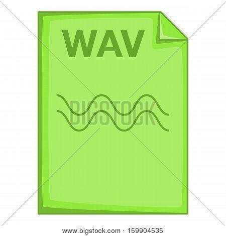 WAV file icon. Cartoon illustration of WAV file vector icon for web