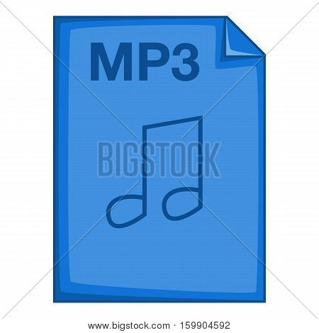 MP3 file icon. Cartoon illustration of MP3 file vector icon for web
