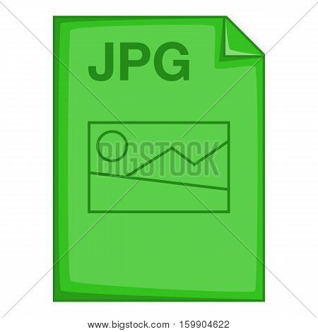 JPG file icon. Cartoon illustration of JPG file vector icon for web