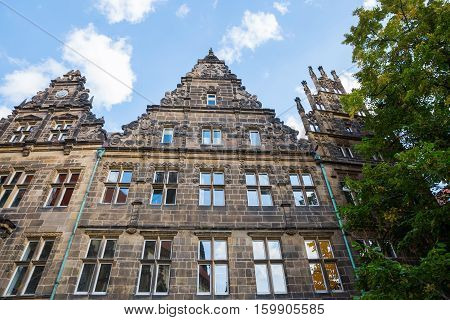 Gables Of Old Houses In Muenster, Germany