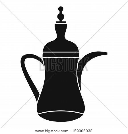 Oriental teapot icon. Simple illustration of oriental teapot vector icon for web