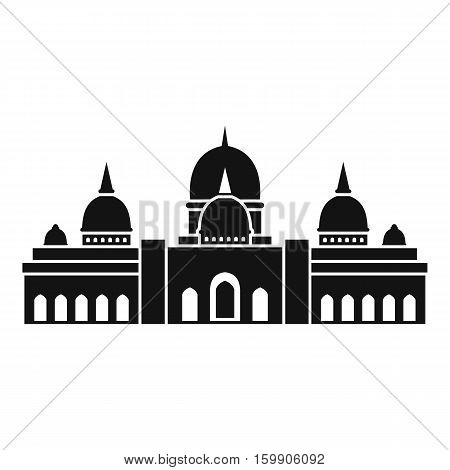 Sheikh Zayed Grand Mosque, UAE icon. Simple illustration of Sheikh Zayed Grand Mosque, UAE vector icon for web