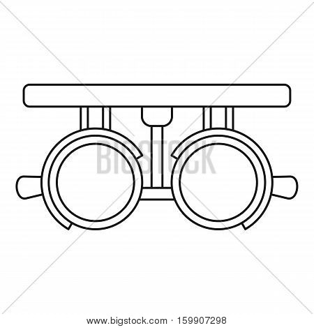 Trial lense frames icon. Outline illustration of trial lense frames vector icon for web