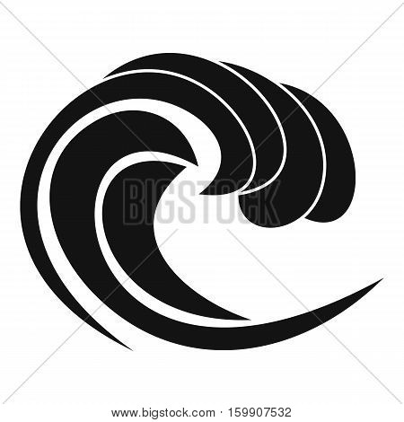 Wave of sea tide icon. Simple illustration of wave of sea tide vector icon for web