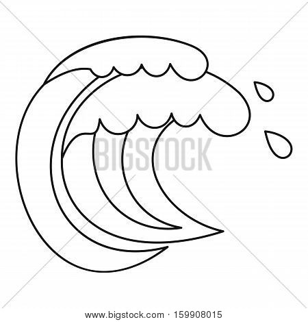 Wave of sea tide icon. Outline illustration of wave of sea tide vector icon for web