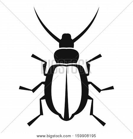 Beetle icon. Simple illustration of beetle vector icon for web