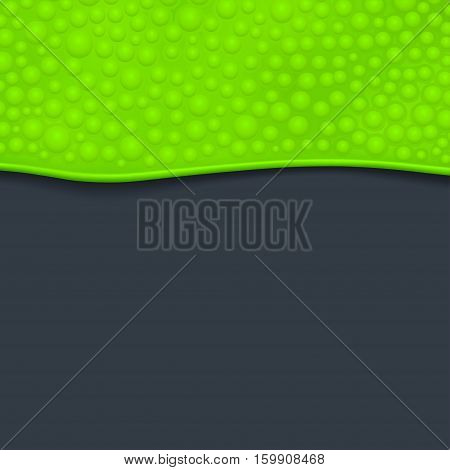 illustration of green slime with bubbles on dark background