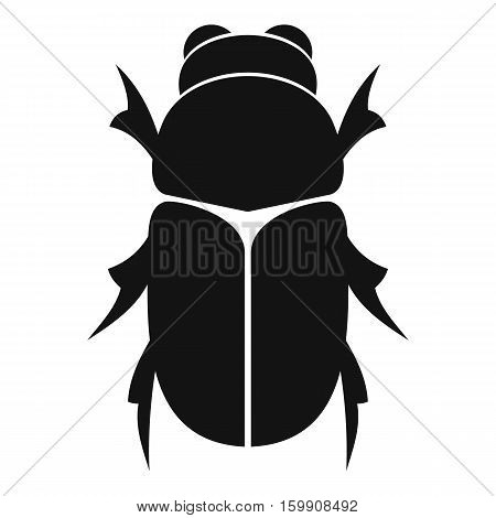 Chafer beetle icon. Simple illustration of chafer beetle vector icon for web poster
