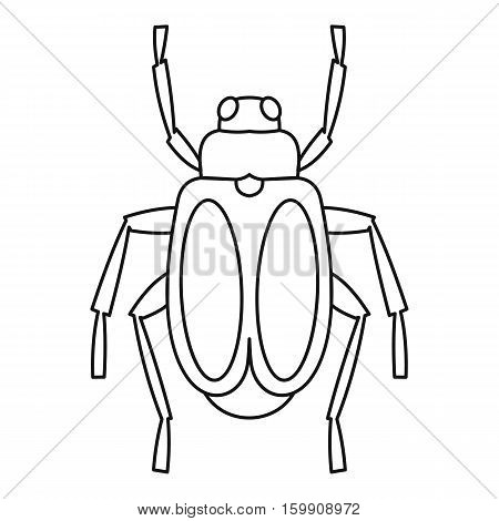 Beetle bug icon. Outline illustration of beetle bug vector icon for web