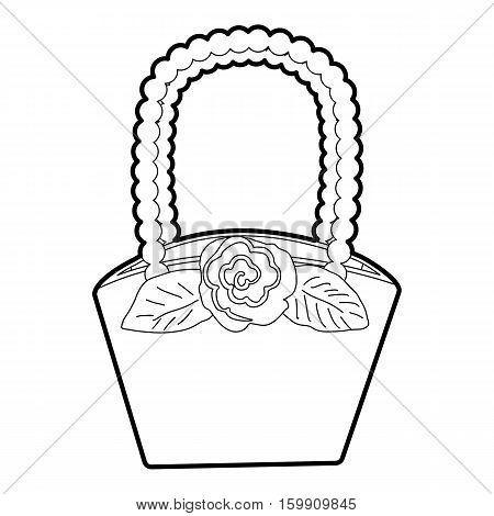 Basket icon. Outline illustration of basket vector icon for web