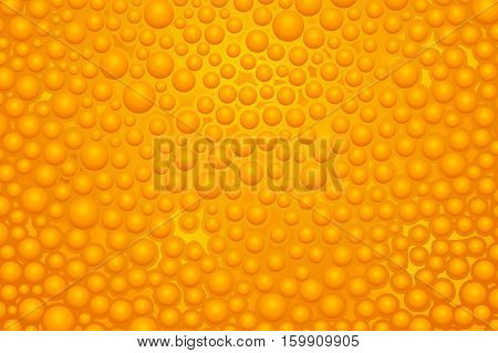 illustration of wide orange color bubble slime background
