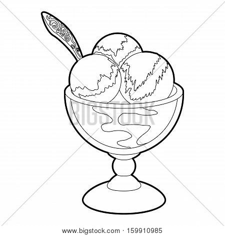 Ice cream icon. Outline illustration of ice cream vector icon for web
