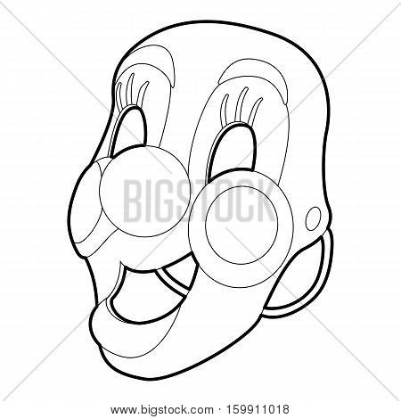 Clown maskicon. Outline illustration of clown mask vector icon for web