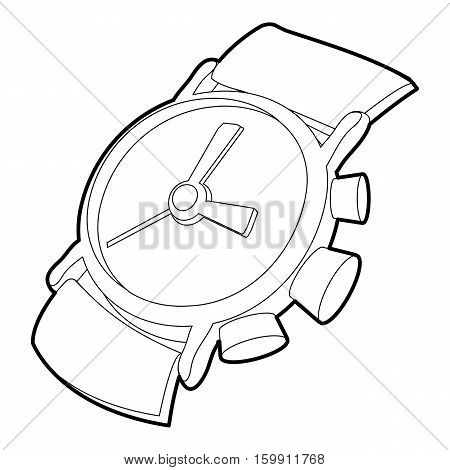 Watch icon. Outline illustration of watch vector icon for web