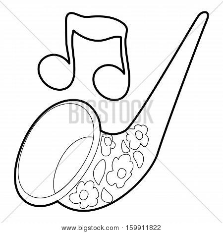 Saxophone icon. Outline illustration of saxophone vector icon for web