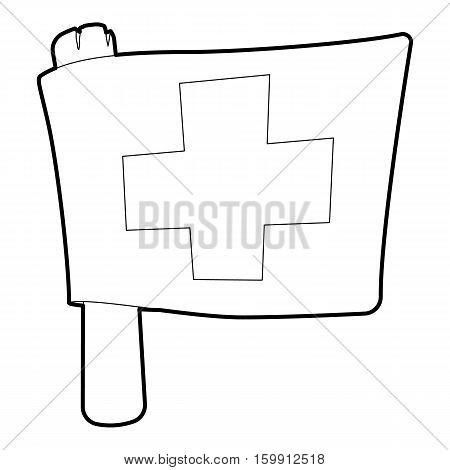 Switzerland flag icon. Outline illustration of switzerland flag vector icon for web
