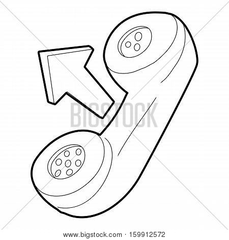 Handset icon. Outline illustration of handset vector icon for web