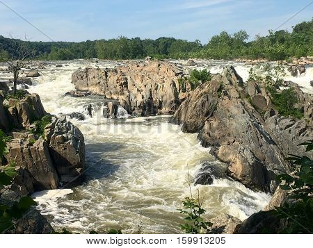 Great Falls waterfall in Great Falls, VA