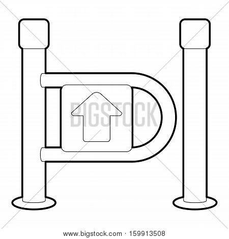 Fencing system icon. Outline illustration of fencing system vector icon for web