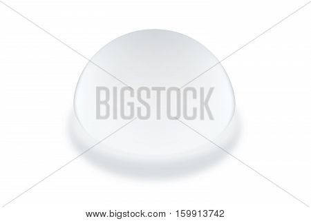Silicone breast textured round shapes isolated on white background. Vector object about cosmetic surgery.