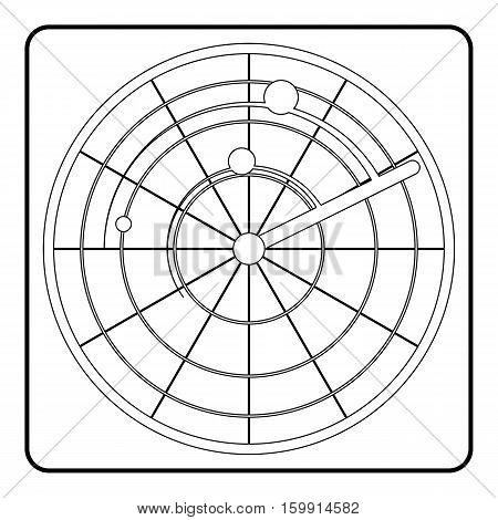 Radar icon. Outline illustration of radar vector icon for web