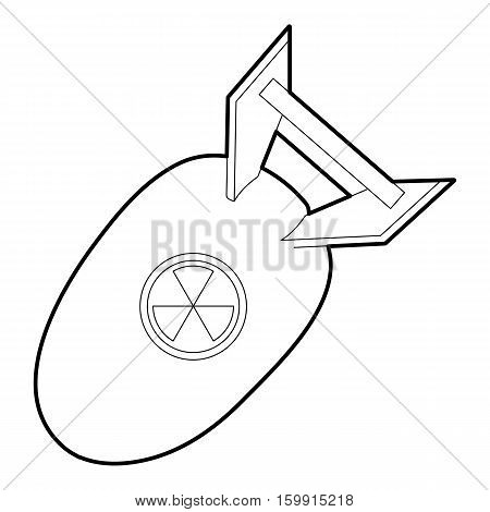 Atomic bomb icon. Outline illustration of atomic bomb vector icon for web