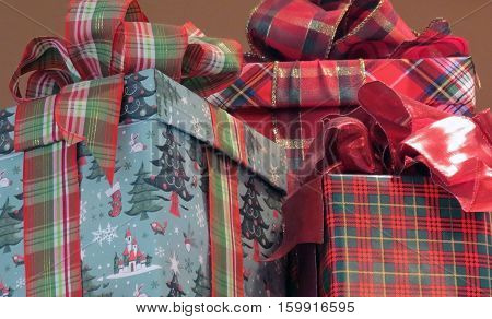 Christmas Gifts wrapped and ready for the Christmas Tree.
