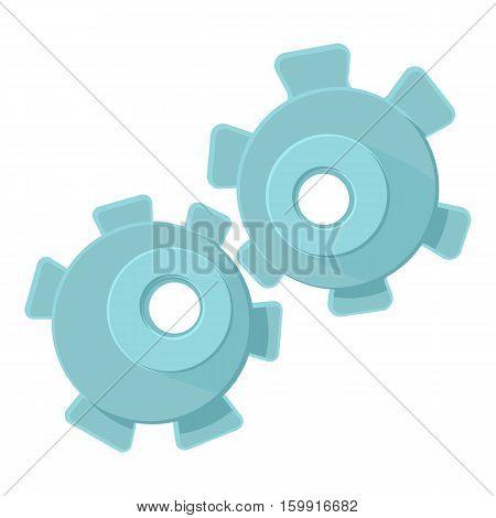 Cogwheel icon. Cartoon illustration of cogwheel vector icon for web