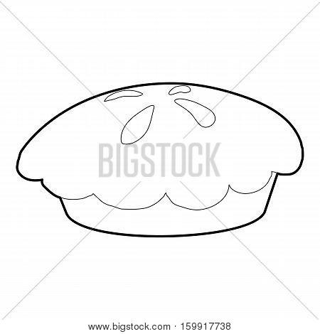 Loaf icon. Outline illustration of loaf vector icon for web