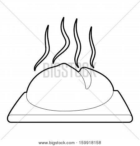 Fresh loaf icon. Outline illustration of fresh loaf vector icon for web