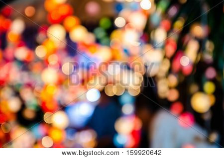 Abstract colorful bokeh background for christmaslight .