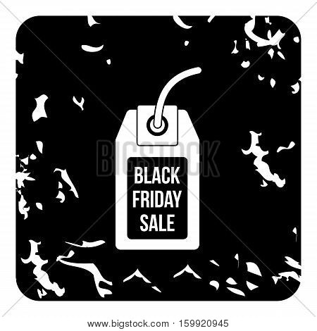 Total black friday icon. Grunge illustration of total black friday vector icon for web