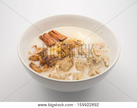 Congee With Pork And Sausage.