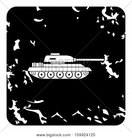 Tank icon. Grunge illustration of tank vector icon for web