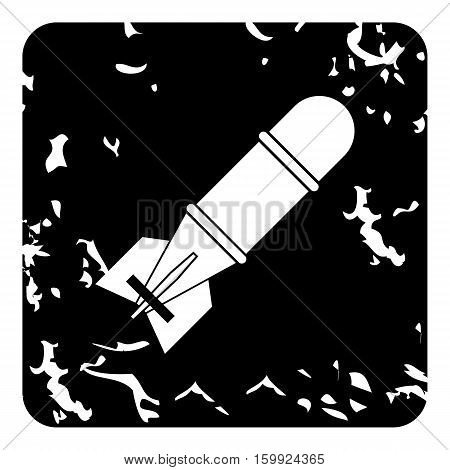 Nuclear warhead icon. Grunge illustration of nuclear warhead vector icon for web
