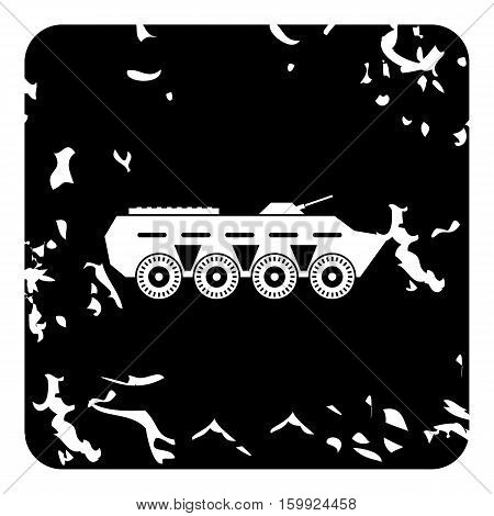 Armored fighting vehicle icon. Grunge illustration of armored fighting vehicle vector icon for web