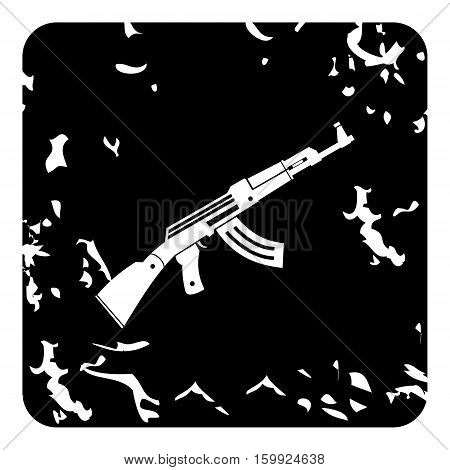 Automatic Kalashnikov icon. Grunge illustration of automatic Kalashnikov vector icon for web