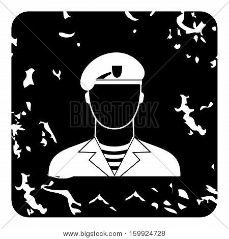 Soldier icon. Grunge illustration of soldier vector icon for web