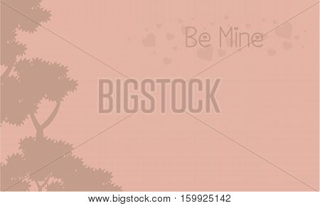 Be mine landscape with tree collection stock