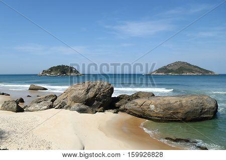 Grumari Beach in the West Zone of Rio de Janeiro, Brazil