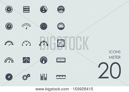 meter vector set of modern simple icons