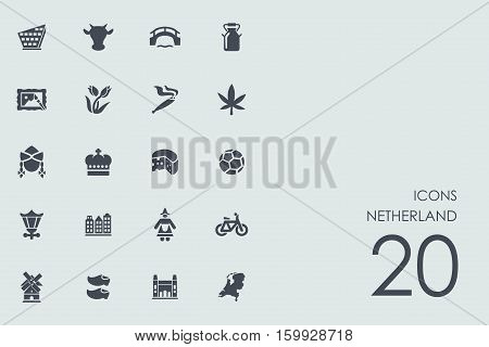 Netherland vector set of modern simple icons