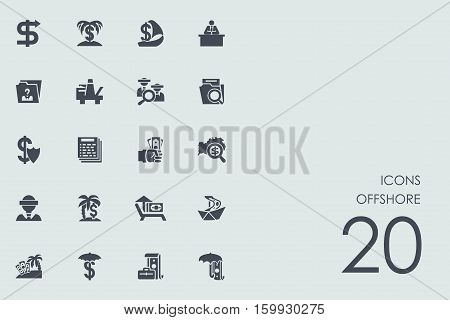 produced overseas vector set of modern simple icons