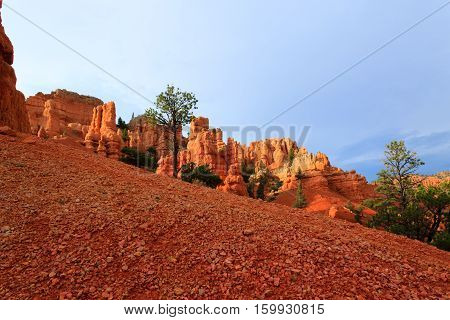 Red Canyon Panorama, Utah, Usa